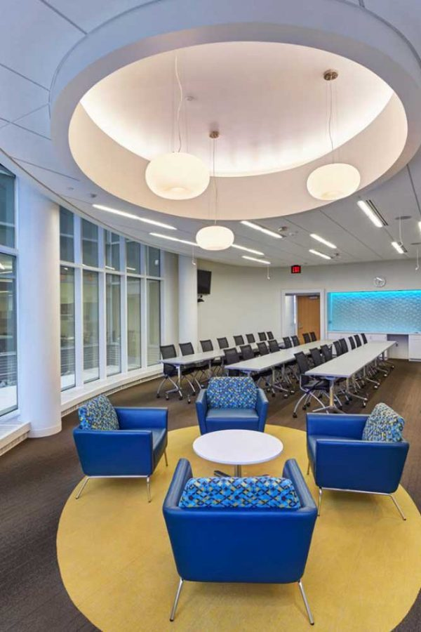 Modern brightly designed lecture hall