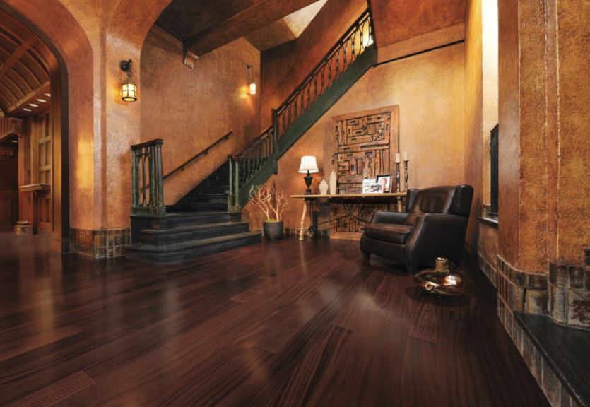 Beautiful expensive looking hardwood floor design in large home