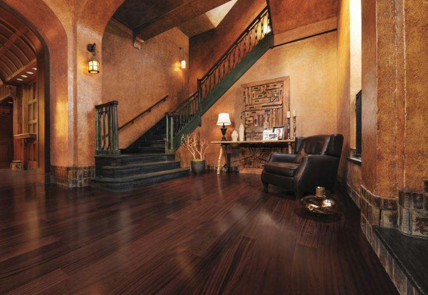 Beautiful expensive looking hardwood floor design in large home