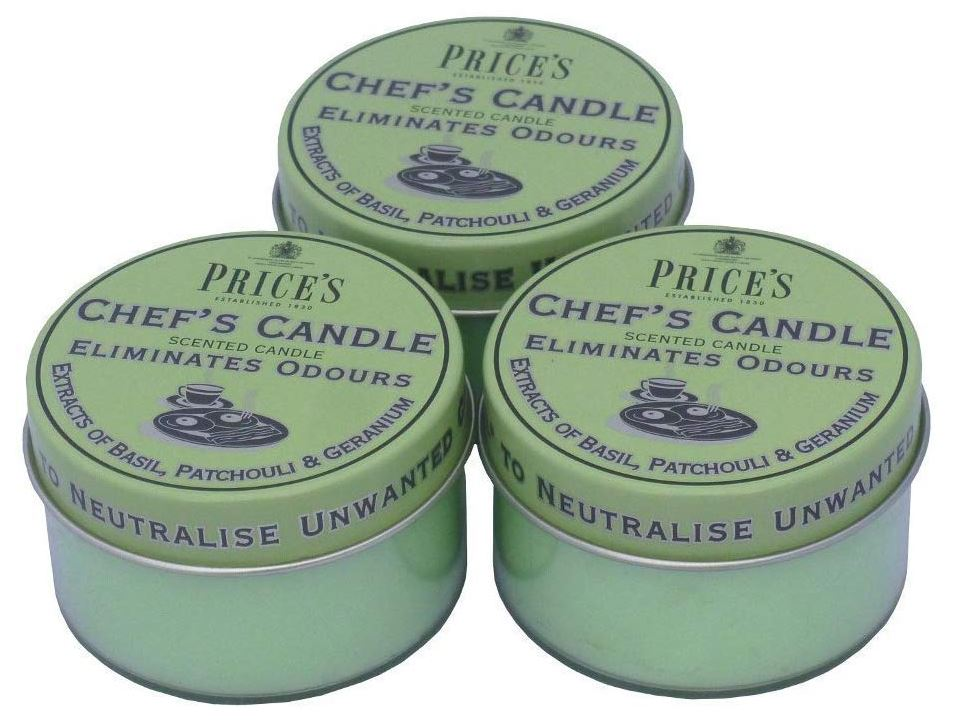 chefs candles to remove odours