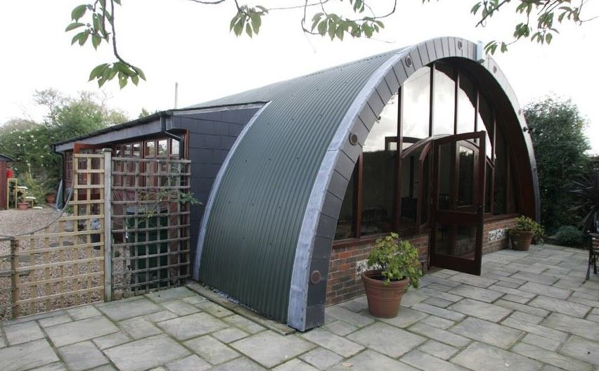 Beautiful modern example of a Quonset home