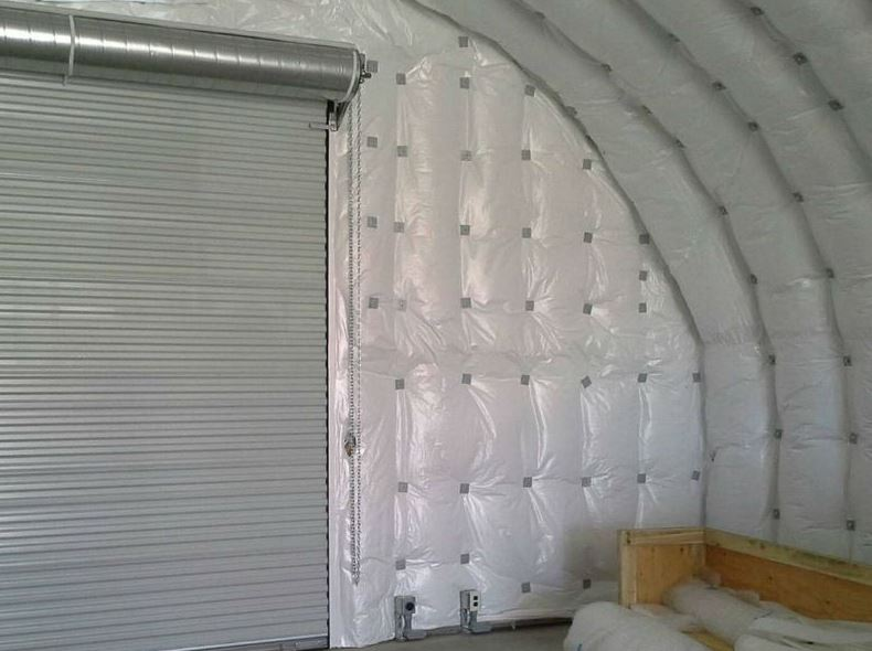 Quonset home insulation example