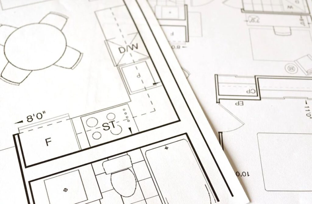 A detailed floor plan, house plan, planning