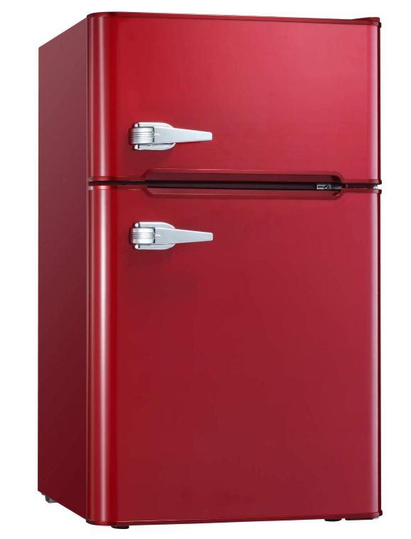 bergundy bossin retro fridge