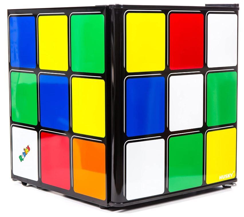 Rubiks cube retro fridge multicoloured