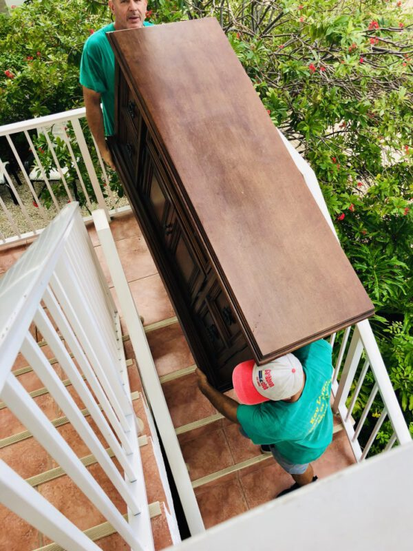 removal of a chest down some stairs